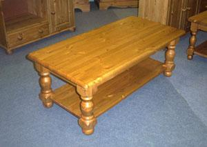 Solid pine farmhouse coffee tables, hand built and hand finished here in our own workshop.