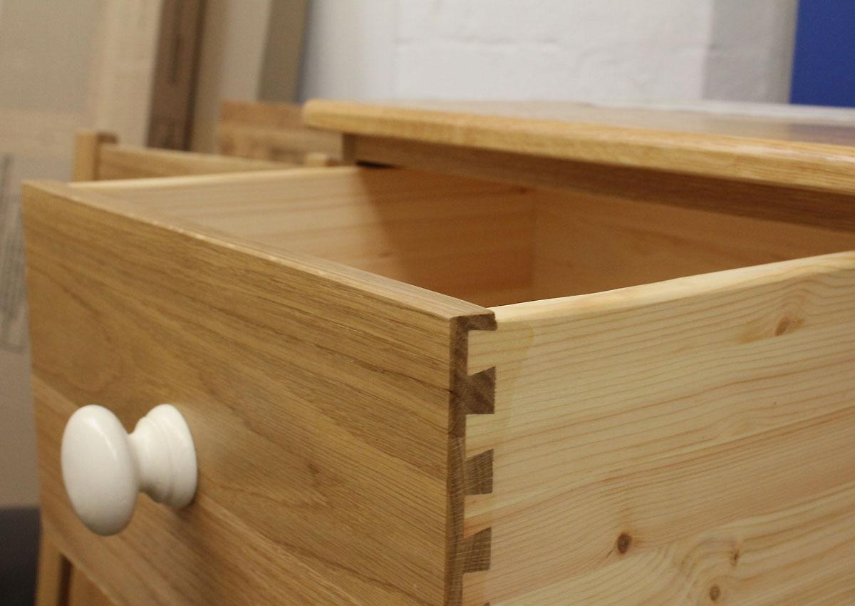 We use dovetail joints in all our drawers