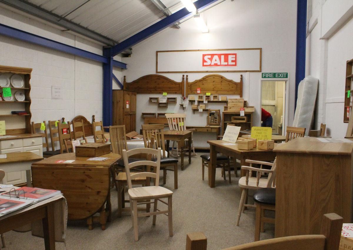 Our Pine Furniture Showroom in Barnstaple, North Devon