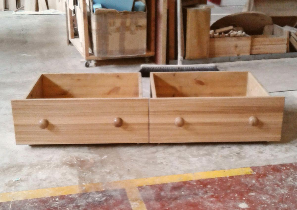 Custom made under bed drawers