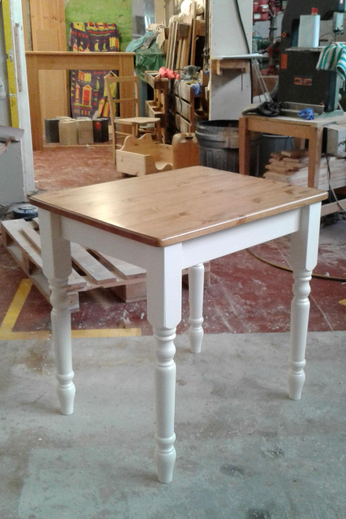 Custom painted pine kitchen tables