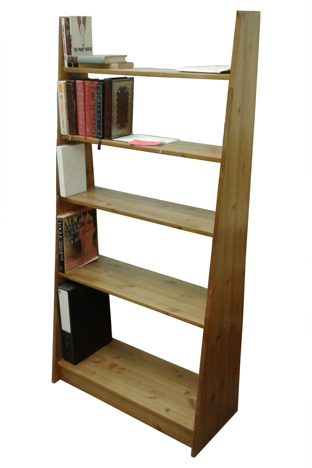 Open backed book case