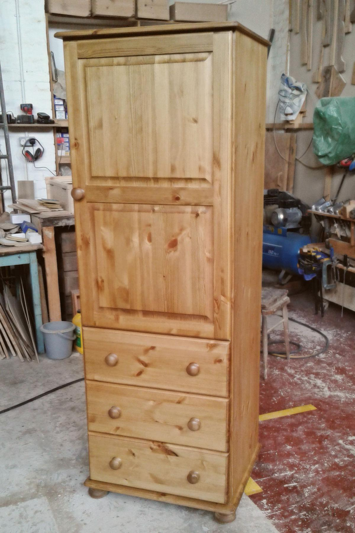 Custom made pine wardrobe