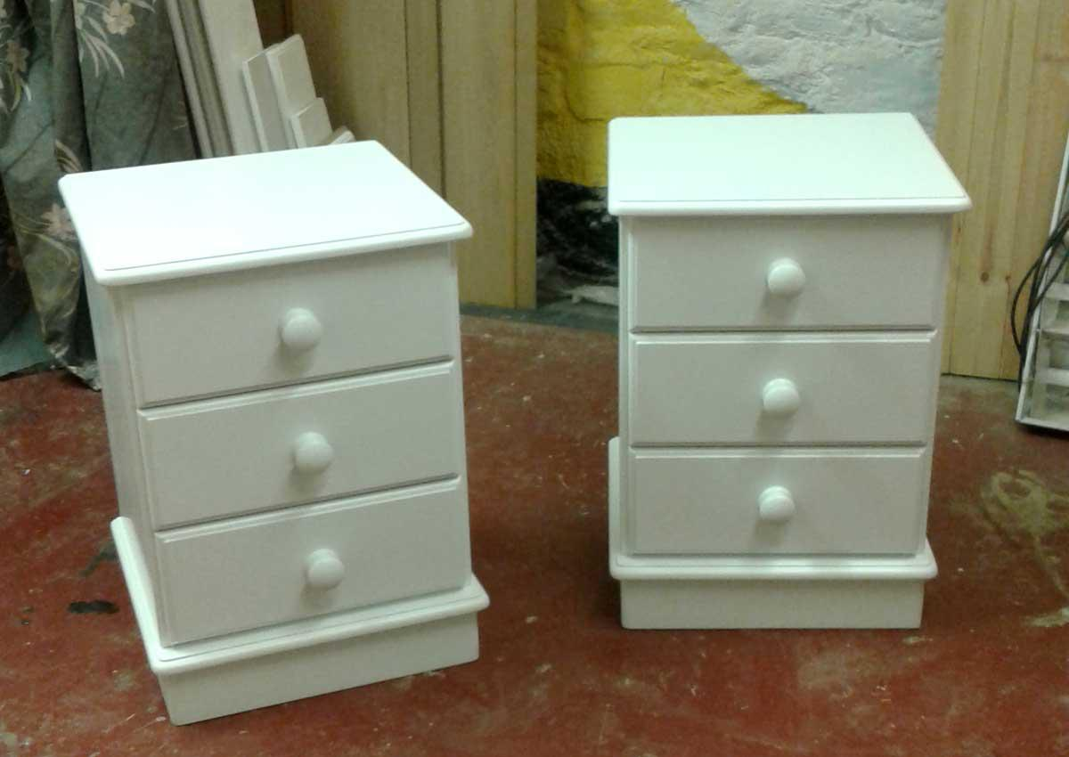 Painted Pine Bedside Chests