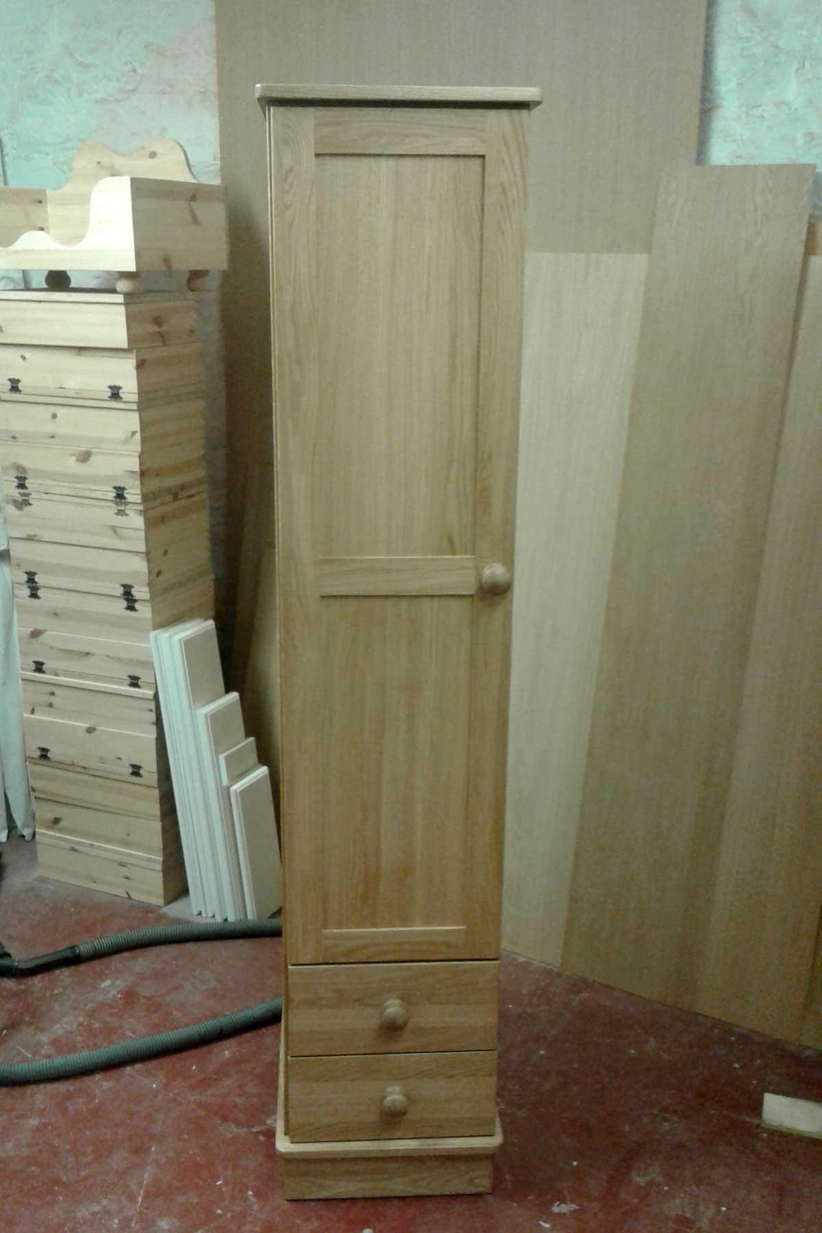 Custom Oak Single Wardrobe