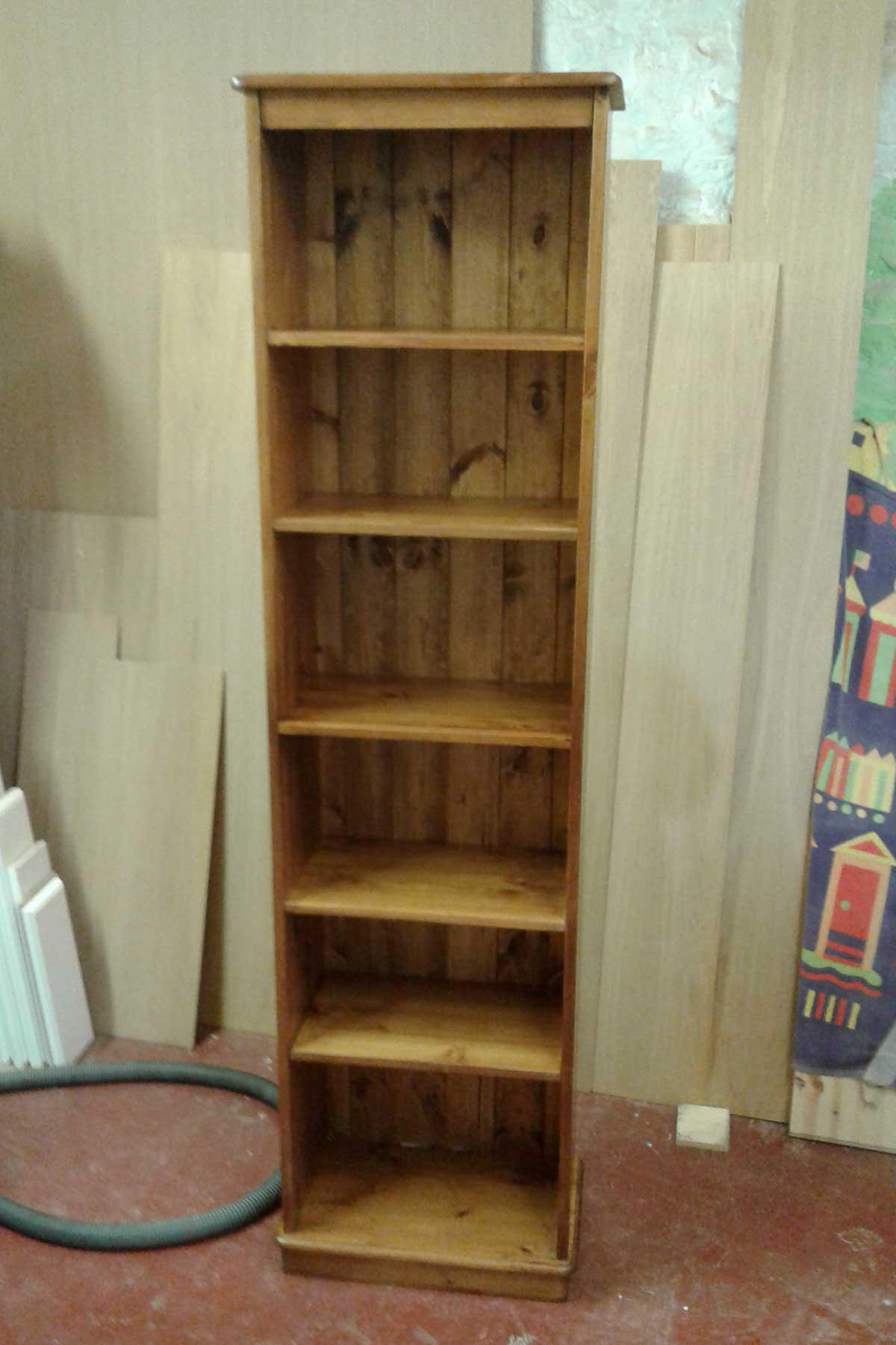 Narrow Pine Bookcase - Made to order