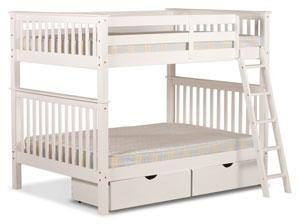 Pine bunk bed with stairs, unlike the majority of standard bunk beds on the UK market. This item has been developed for growing children with large rooms