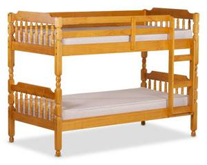 Rustic pine bunk beds for sale from our showroom in Barnstaple, North Devon.