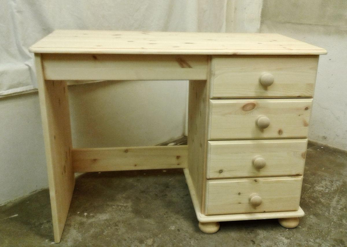 Devon 4 Drawer Dressing Table in unfinished pine