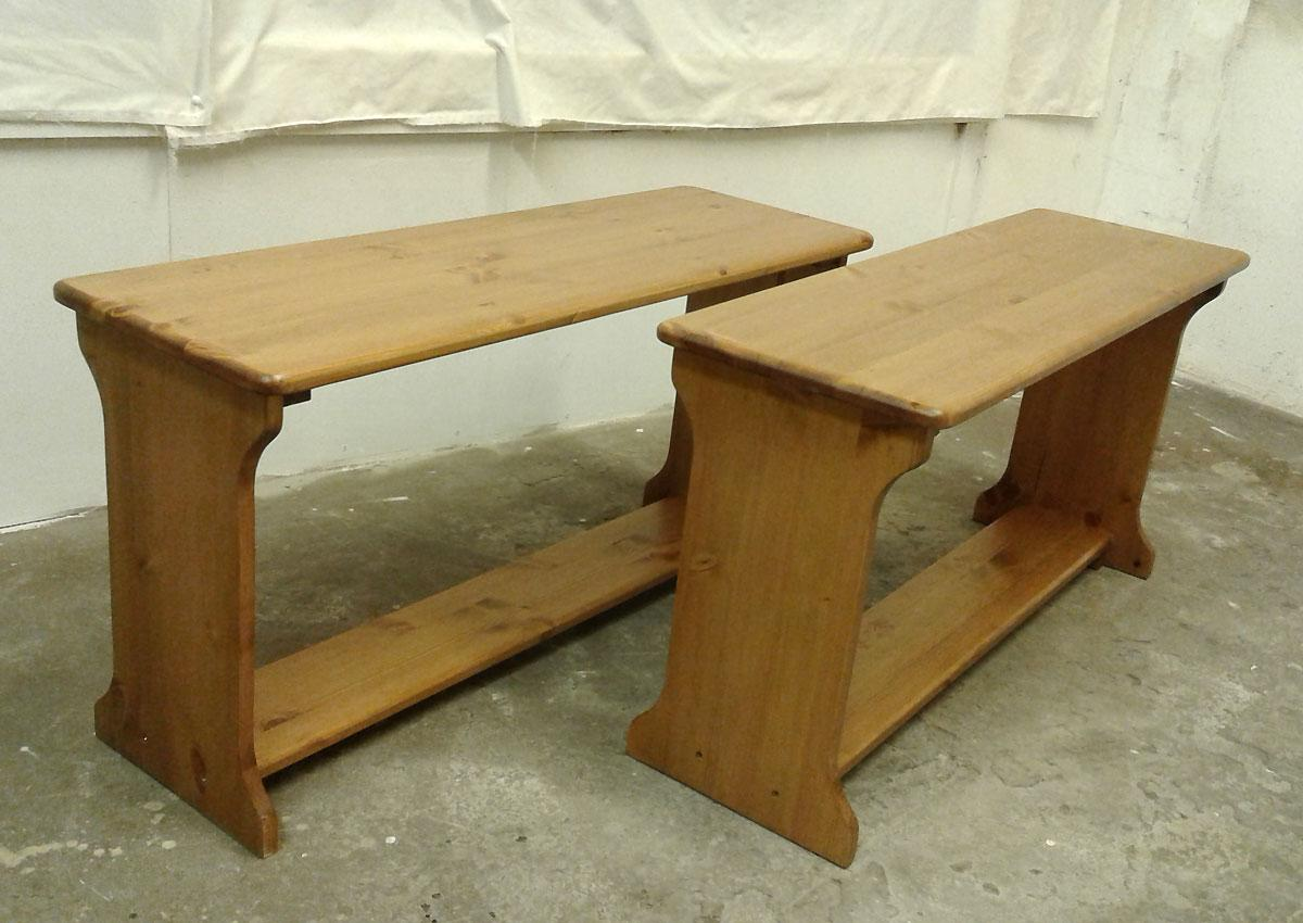 Occasional Benches in Pine or Oak
