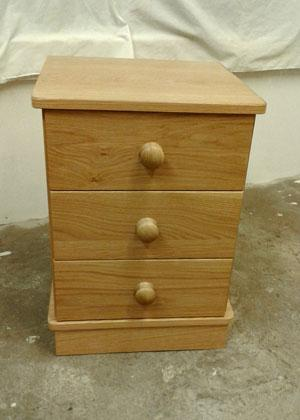 Solid oak bedside cabinets and drawers, finished in oil or wax, or even in the raw if you would prefer.