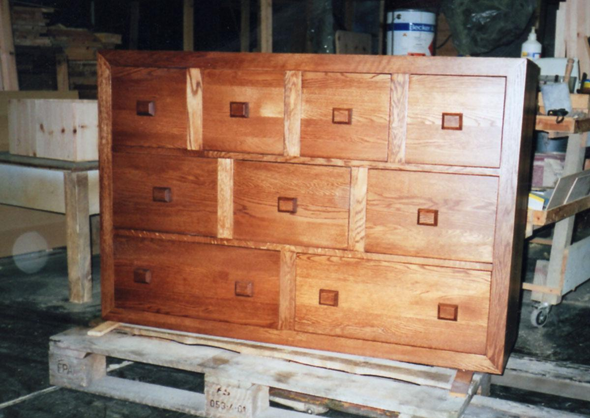 Custom 9 drawer oak sideboard