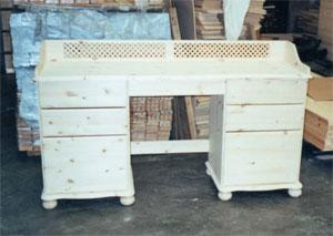 Special made to measure desks in Pine, Oak or Painted.