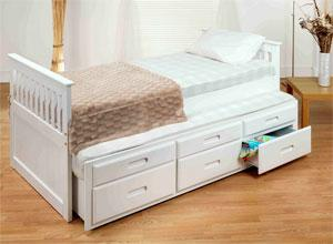 The Captain Bed available one with guest bed and 3 drawer storage unit built.