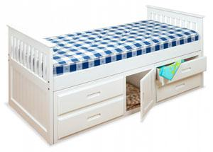 The Captains Bed with four drawers and a cupboard under, perfect for tidying away those toys and clothes