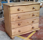 4 drawer pine bedroom chest