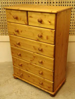 5+2 drawer pine bedroom chest