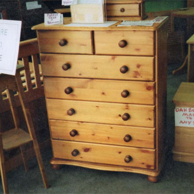 Our collection of pine chest of drawers