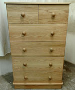 4+2 drawer oak chest of drawers