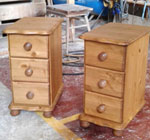 3 Drawer Pine Bedside Cabinets and Chests